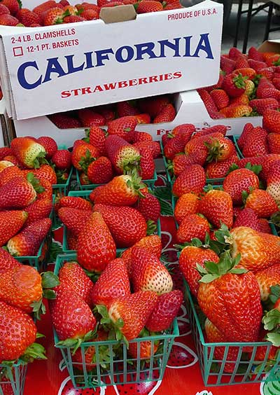 California strawberries for sale at Burlingame Fresh Market